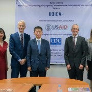 Sean Callahan, Acting Mission Director, USAID Cambodia, Signing of Memoranda of Understanding between USAID, US Centers for Disease Control and Prevention and the Korea International Cooperation Agency