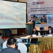 USAID's Assistant Administrator for Asia Jonathan Stivers speaks at the workshop.