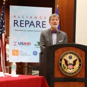 Ambassador Mulrean speaks at the REPARE launch.