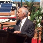 USAID/Zambia Mission Director delivers remarks during the inauguration of two sites for Zambia's Scaling Solar Program