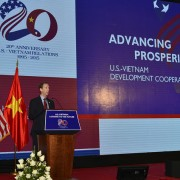 USAID Mission Director Joakim Parker speaks at the event.