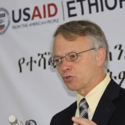 USAID Ethiopia Mission Director Dennis Weller describes the target of improving the reading and writing skills of 15 million.