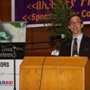 U.S. Deputy Chief of Mission Peter Vrooman gives a keynote address at the opening of the 3rd Annual Ethiopian Coffee Conference.