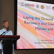 Lawrence Hardy II, Mission Director, Forum on Rehabilitating Marawi and Lanao