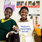 Young volunteers help provide adolescent-friendly health services at Kabale Regional Referral Hospital.