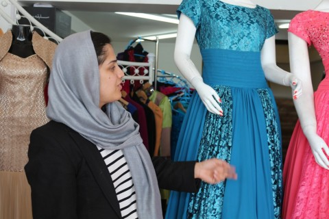 Manizha Wafeq at her store in downtown Kabul.