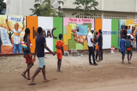 Public murals promote peaceful elections in Cote d'Ivoire