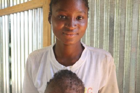 Grace and her daughter, Deogracias, happy and healthy