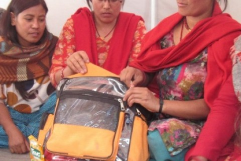 Sita Shrestha, a resident of Nepal's Kathmandu District, received disaster preparedness training in 2013