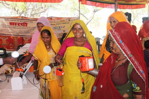 Women Use Solar Power to Light Up Villages in India's Rural Rajasthan