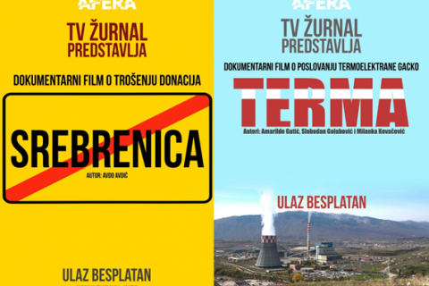 Zurnal's 'TV Affair' cover page for documentaries uncovering corruption.