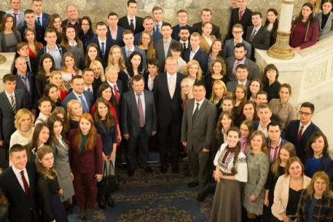 The latest class of the Ukrainian Parliament Internship Program.
