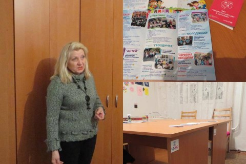 Liliya Galianina, head of the Chervona Gvozdyka Youth Club