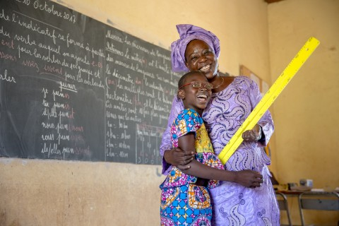 Mafoune Dembele and her teacher Keita Kadiatou Doumbia