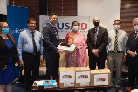 USAID provides critical equipment to Sri Lanka's Ministry of Health, supporting high-risk COVID-19 patients requiring maternal and neonatal care.