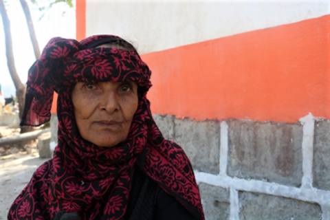 Despite her age, 50-year-old Oloum used to fetch water from faraway places every day. Photo: CARE