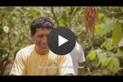 SAUL AYRA, a cacao farmer in the Peruvian jungle