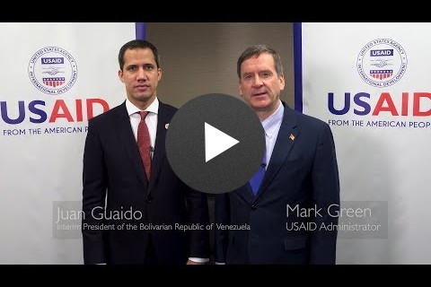 Administrator Green with Interim President Guaidó