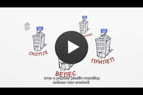 USAID introduced the concept of plastic recycling in Macedonia
