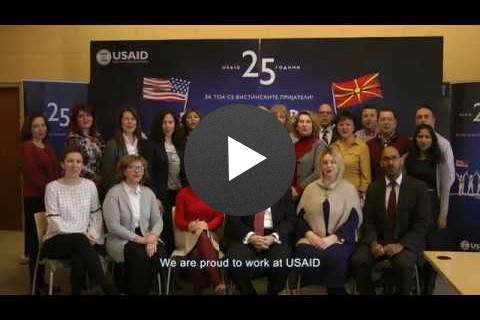 USAID's Staff Marking Our 25 Year Anniversary in Macedonia