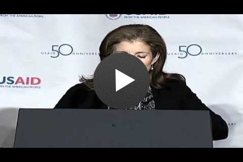 Caroline Kennedy at the USAID 50th Anniversary Event