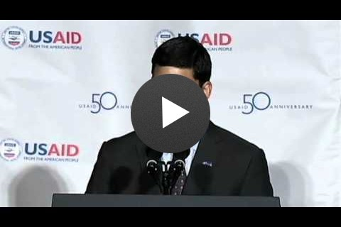 USAID Administrator Dr. Rajiv Shah at the USAID 50th Anniversary Event