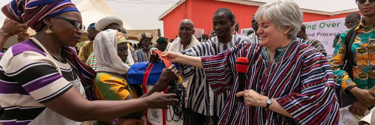 Success in Shea: Ambassador promotes women's economic empowerment with launch of shea butter processing facility in Northern Ghana