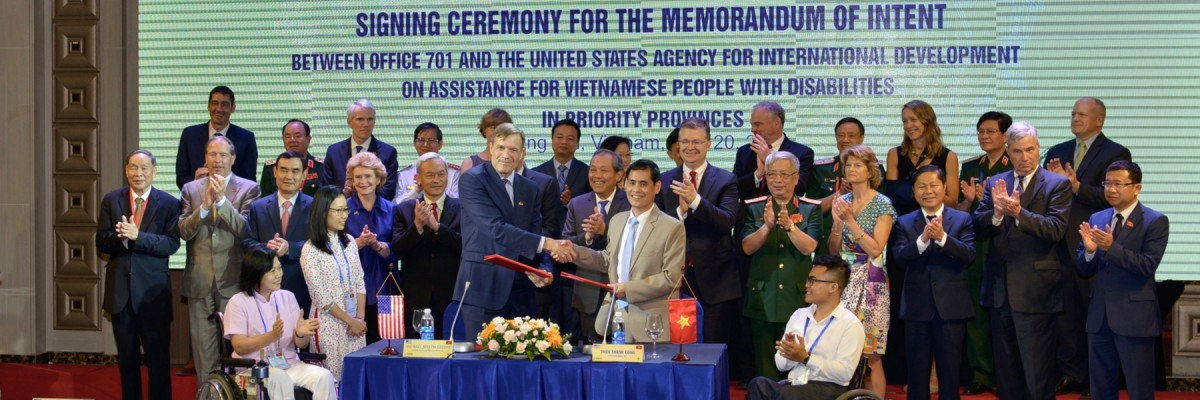 United States and Vietnam Sign Memorandum of Intent for New Partnership on Disabilities Assistance
