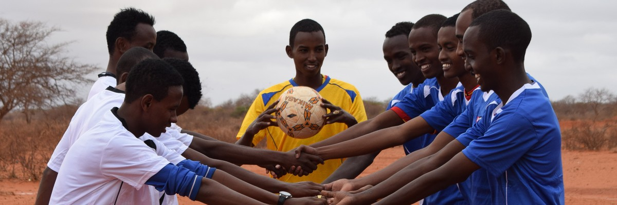 Youth from Borubirdeso-Elwak engaging in soccer drills