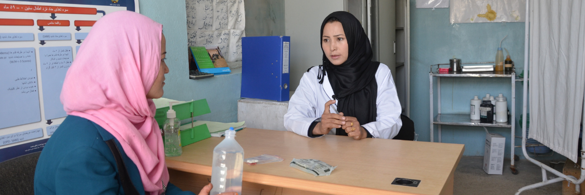 USAID partners with the Afghan Ministry of Public Health and local partners to improve the health of the Afghan people, especially women and children.