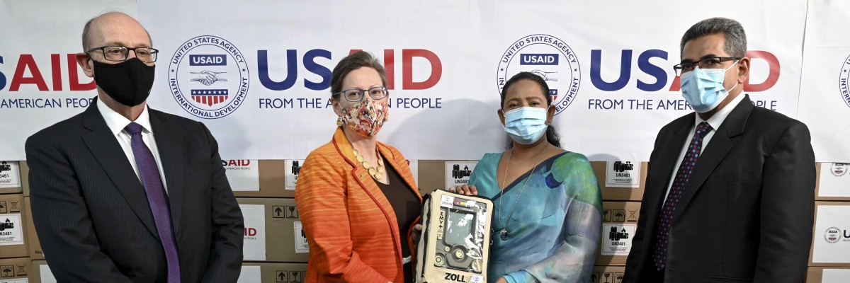 USAID handed over 200 ventilators to Sri Lanka's Ministry of Health to fight COVID-19