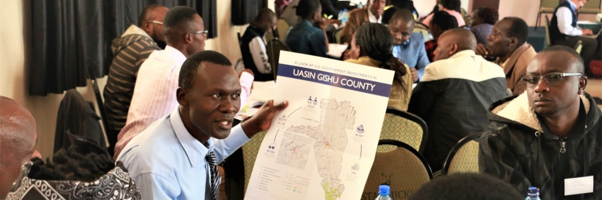 USAID hosted stakeholders from civil society, private and public sectors for an information session in Uasin Gishu County to learn more about the Annual Program Statement partnership opportunity and discuss development challenges and solutions.
