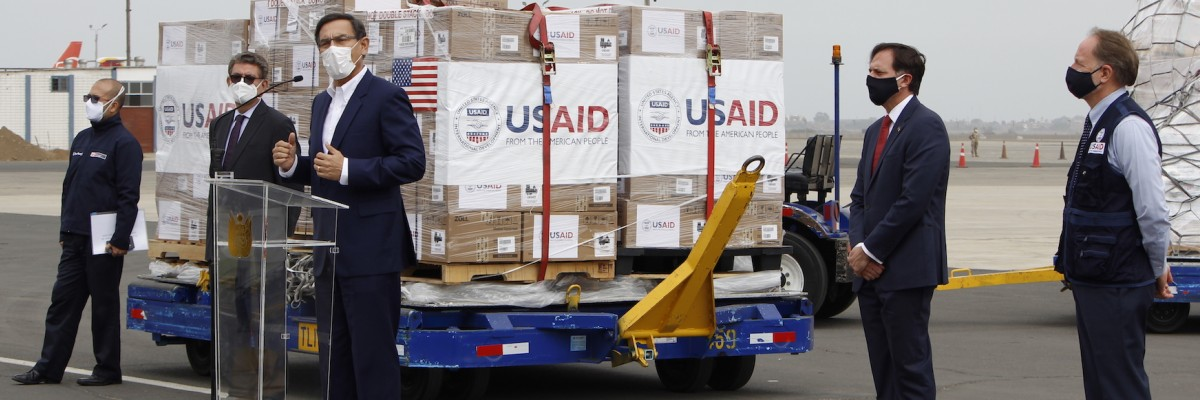 THE UNITED STATES PROVIDES 500 VENTILATORS TO PERU TO RESPOND TO COVID-19
