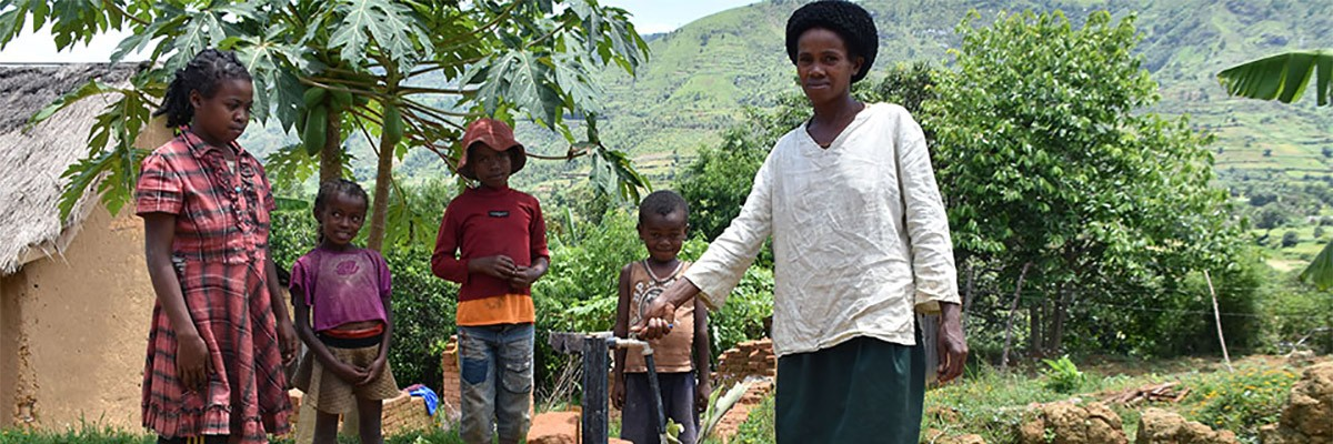 In the village of Sabotsy Anjiro in Madagascar, a simple water tap installed outside Voahangy Rasoanantenaina's door has changed her life.