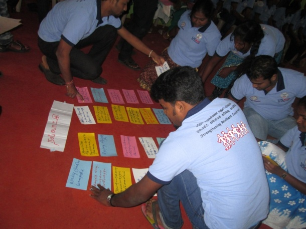 Workshop participants engage in a community planning exercise.