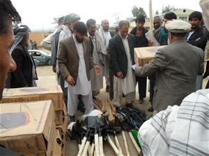 Farmers receive their new tools