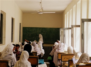 USAID joined with the authorities in Khost, eastern Afghanistan, to re-model the dilapidated Bibi Halima school to telling effec
