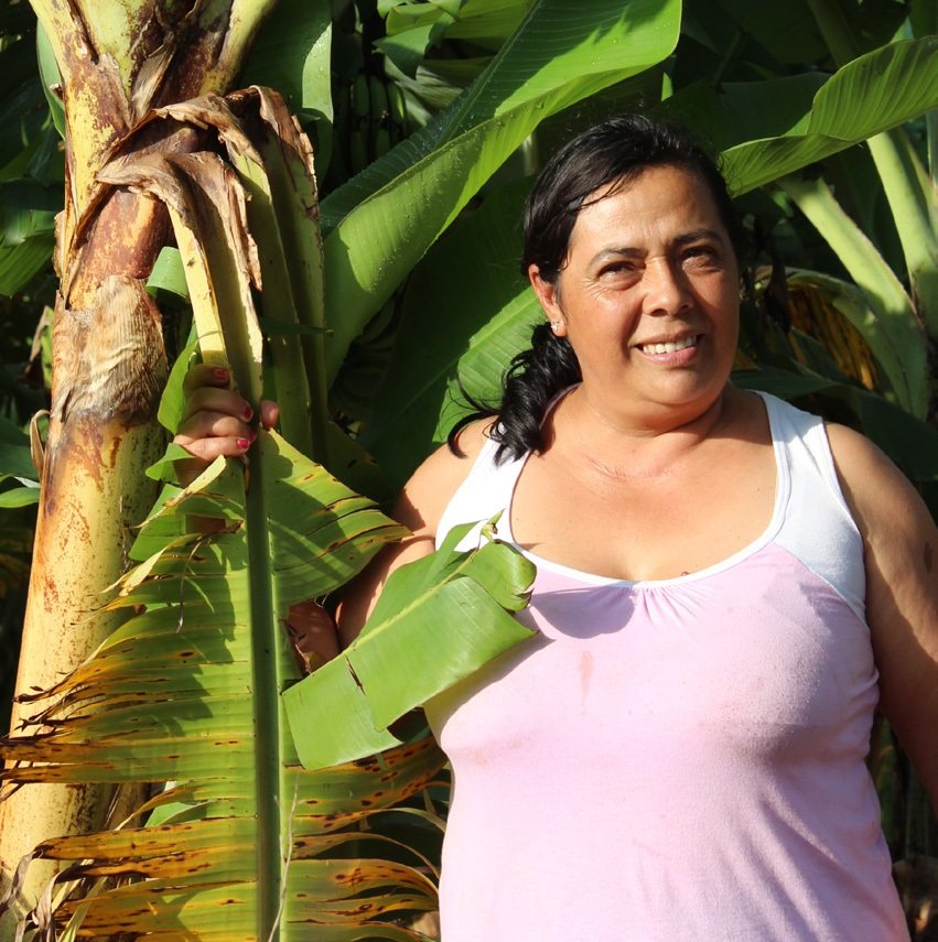 Claudelina Portillo on her banana farm