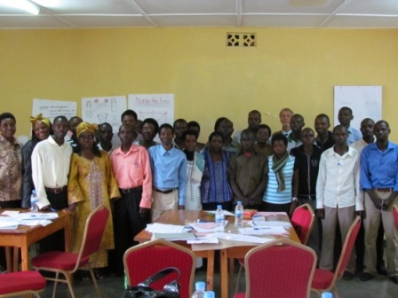 Teachers participate in Rwanda's first math camp.