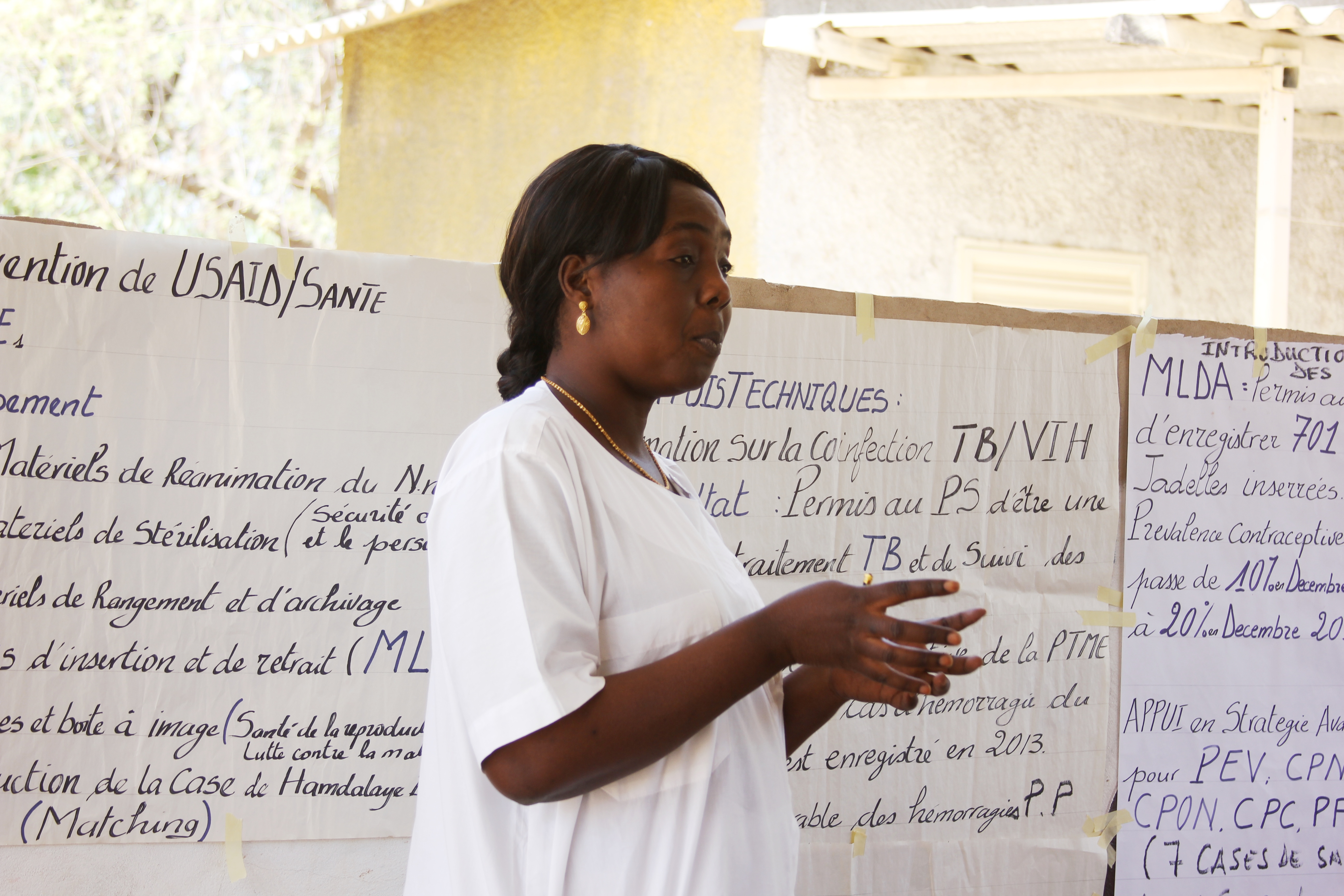 Chief nurse, Madame Dieng, explains some of the major health challenges in the area.