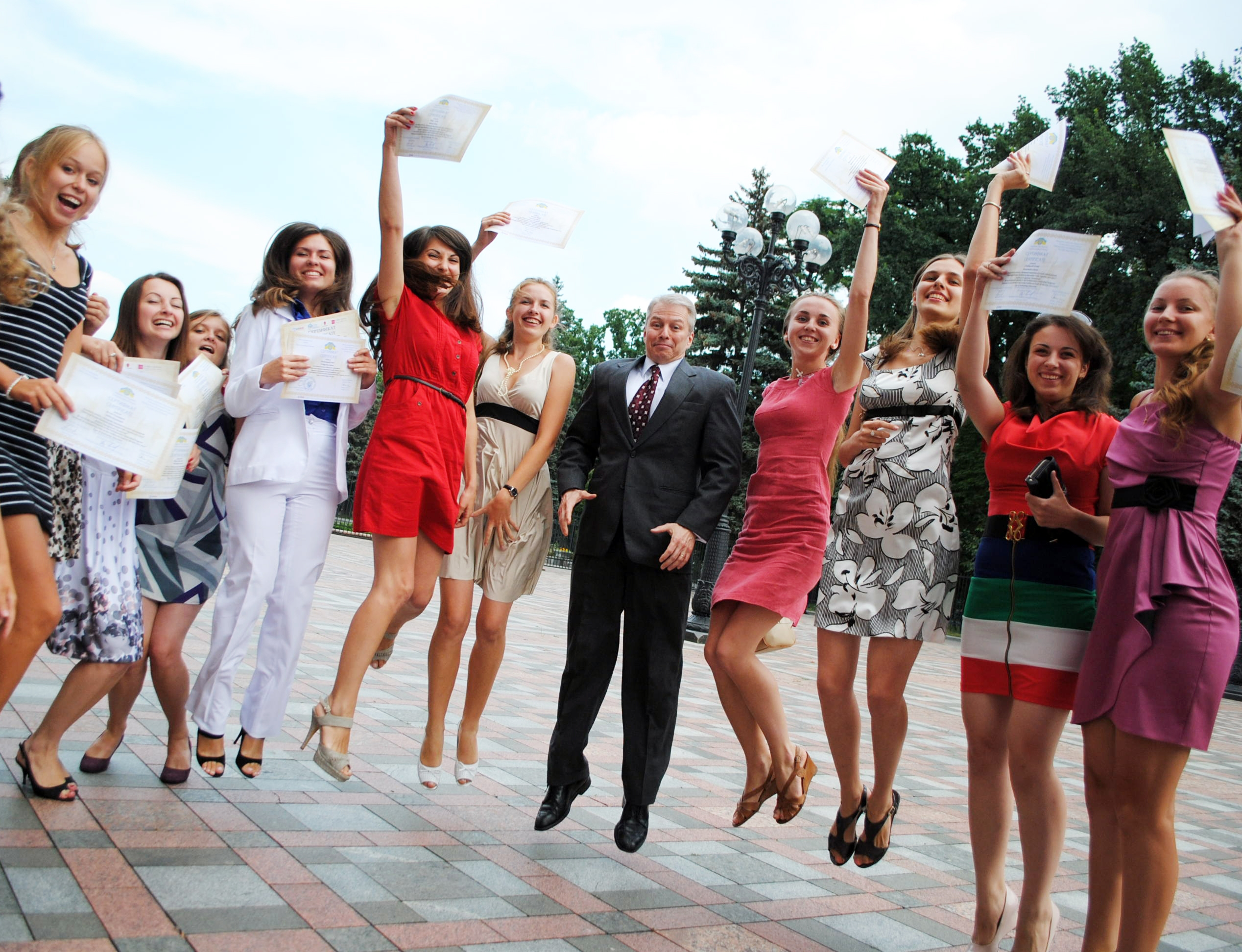 This year 87 young Ukrainians received the certificates for participation in the Internship Program.