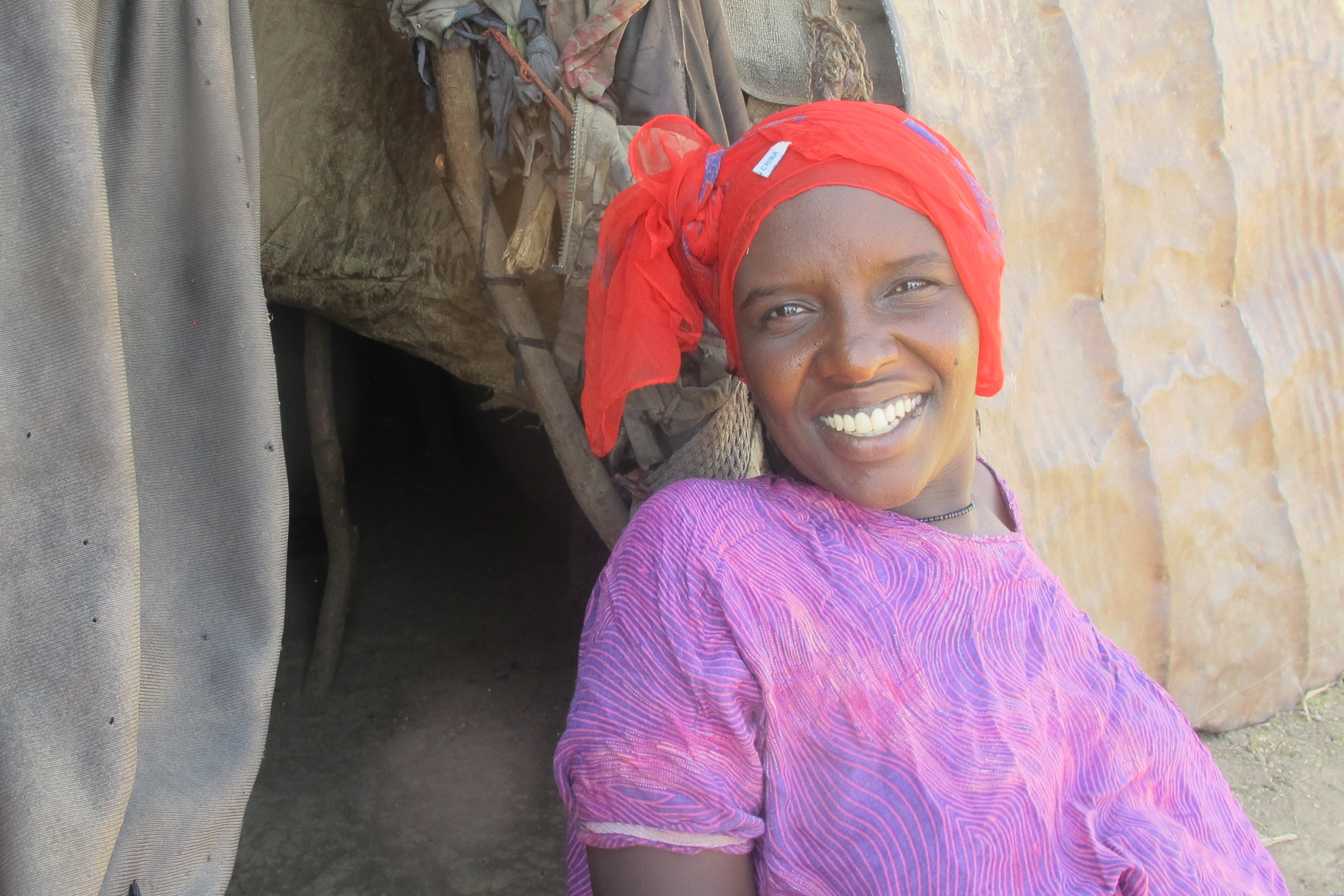 Sofiya Muse Omer now has access to clean, reliable water close to her home and a private latrine.