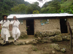 Before: Serankuan children attended classes in a tiny mud one-room school with no restrooms