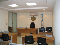 AFTER - This hearing room at the newly renovated court is open 24 hours a day