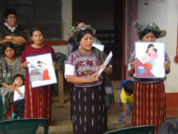 Ixil Maya mothers in the village of Acul, near the north central mountain town of Nebaj