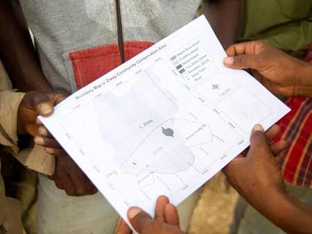 Community members in rural Ethiopia participated in mapping areas they wanted to protect.