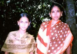 Photo of Depali and daughter.