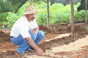 Rubiel Zapata, a former teacher, always dreamed of growing rubber. With USAID support, he now is working with local farmers to p