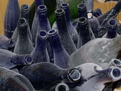 Photo of the bottles before transformation