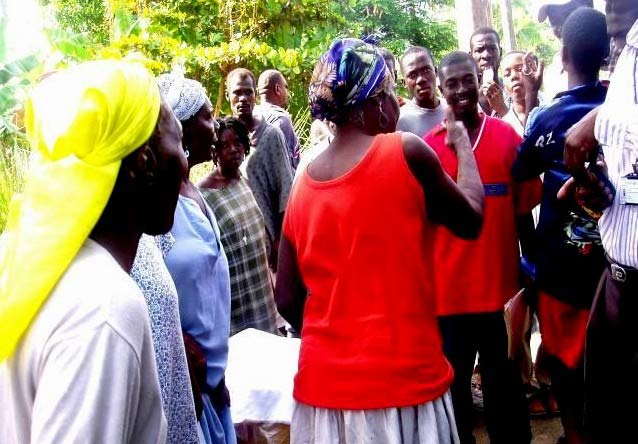 The women of Ti-Guinen voiced their displeasure at the lack of employment opportunities available for women.